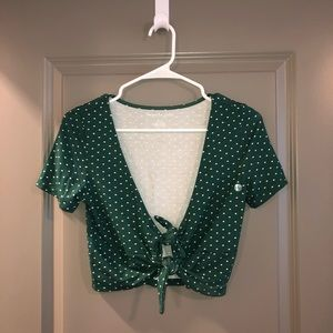 NWT AE tie front top